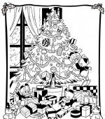coloriage noel disney 008